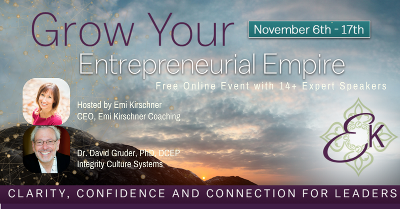 """Emi Kirschner's """"Grow Your Entrepreneurial Empire Summit"""" Interview with Dr. David Gruder"""